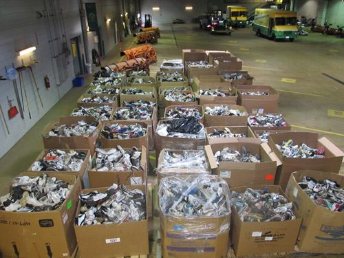 Boxes of shoes