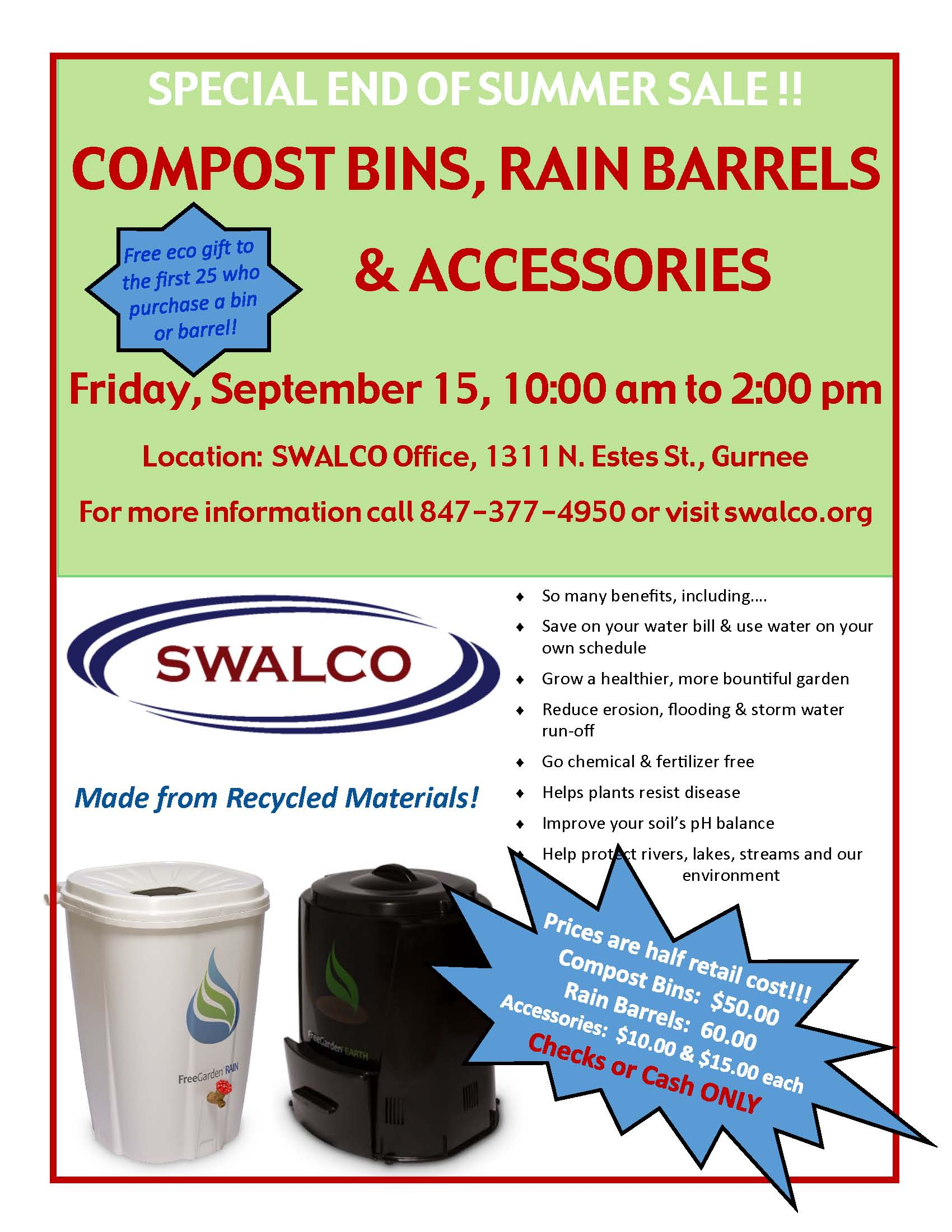One Day Bin and Barrel Sale - September 15, 2017