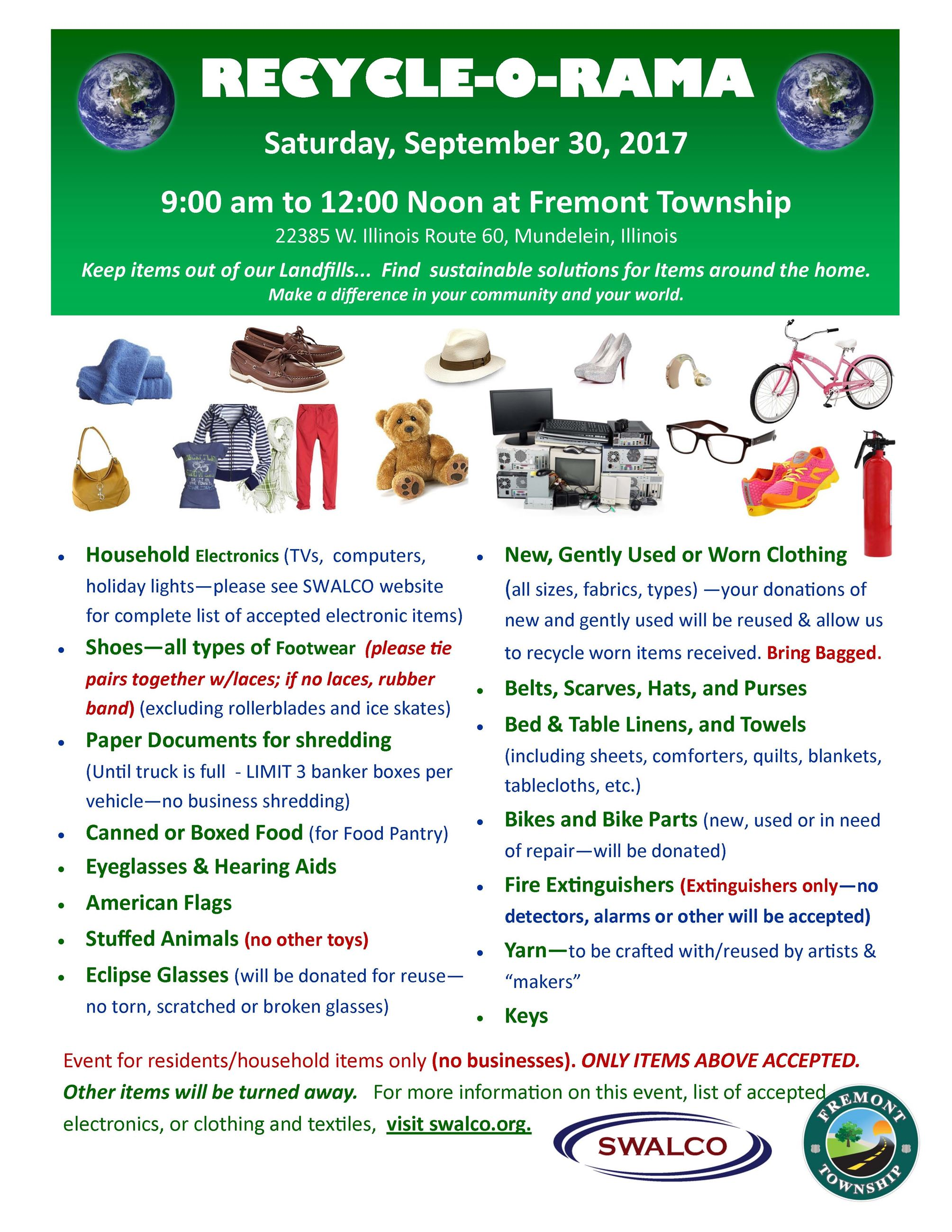 Recycle-O-Rama Fremont Township and SWALCO September 2017