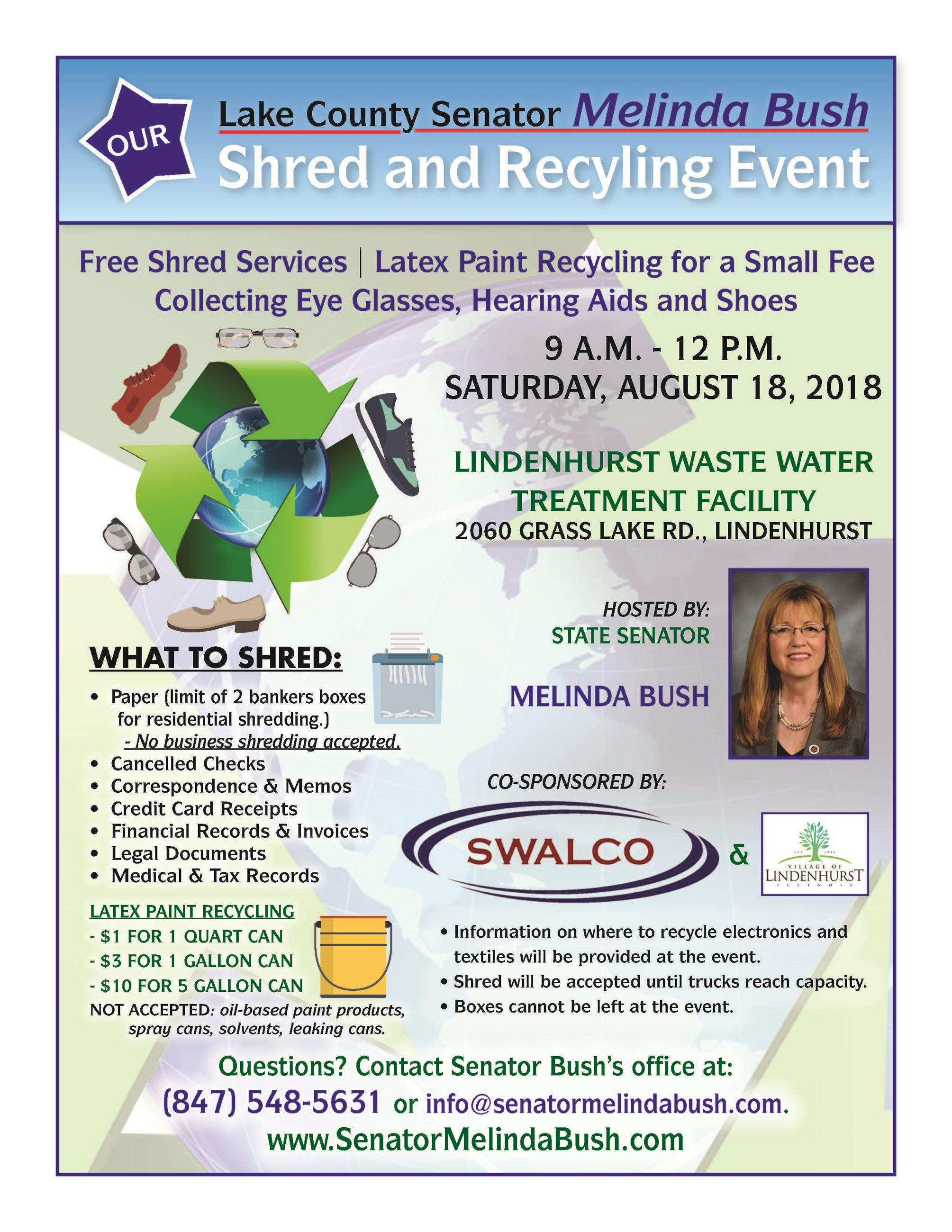 2018 Shred and recycling fair info flyer