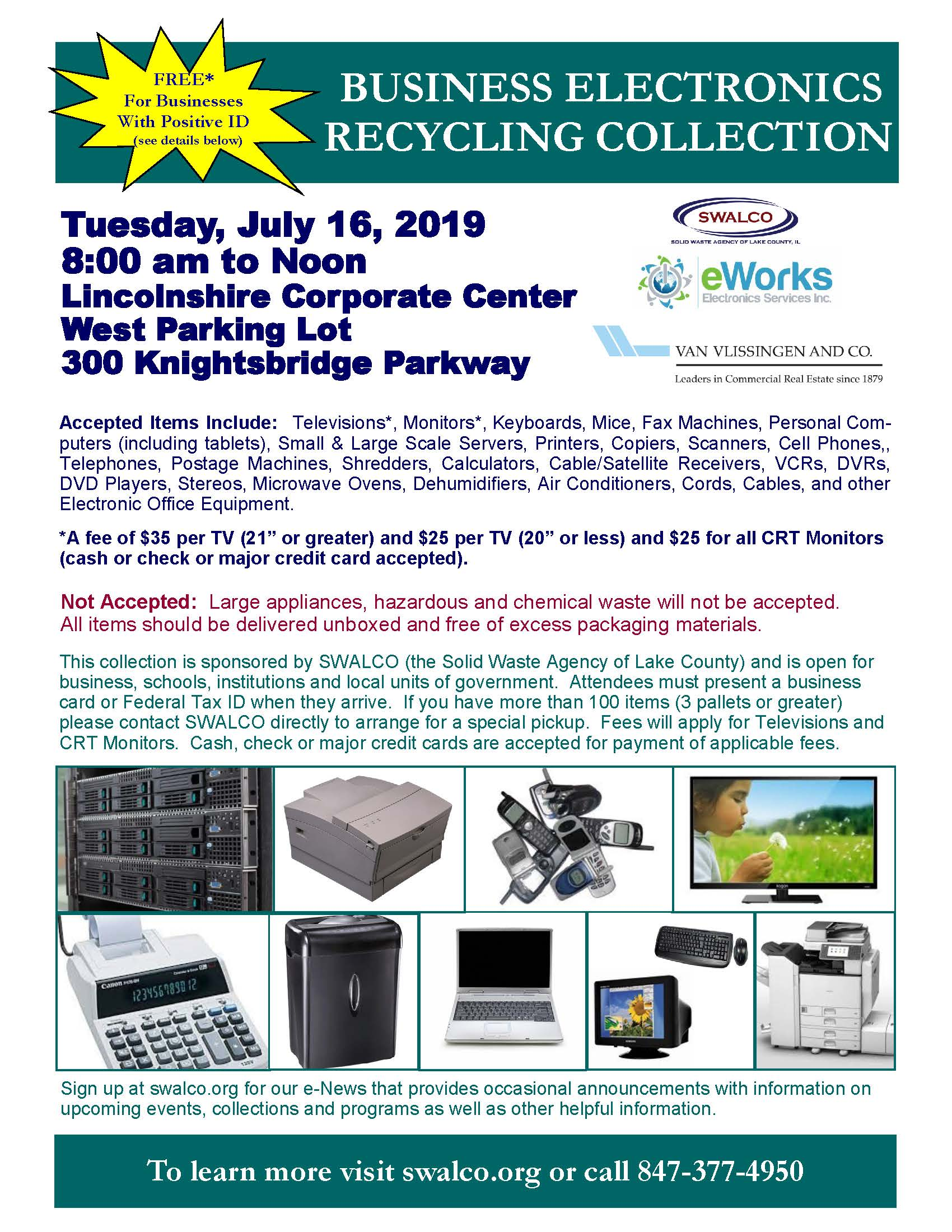 Electronics E-Works Village of Lincolnshire July 16, 2019 v2