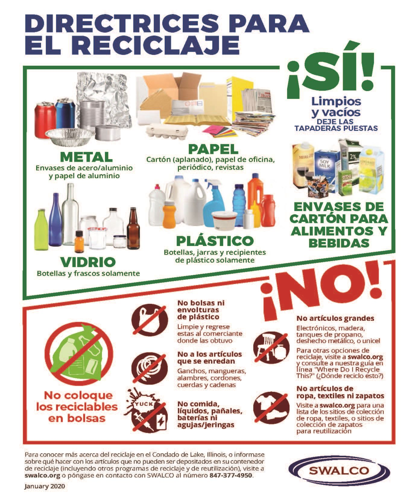 Recycling Guidelines Spanish January 2020