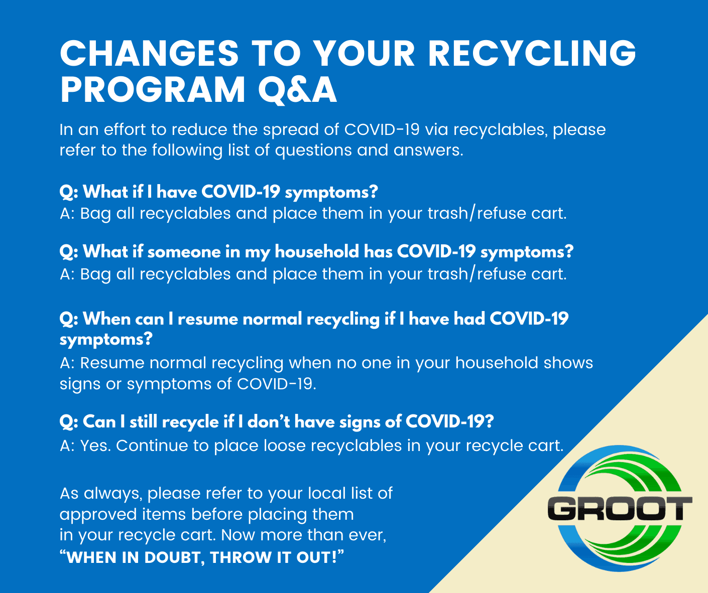 COVID-19 Recycle Communication QandA