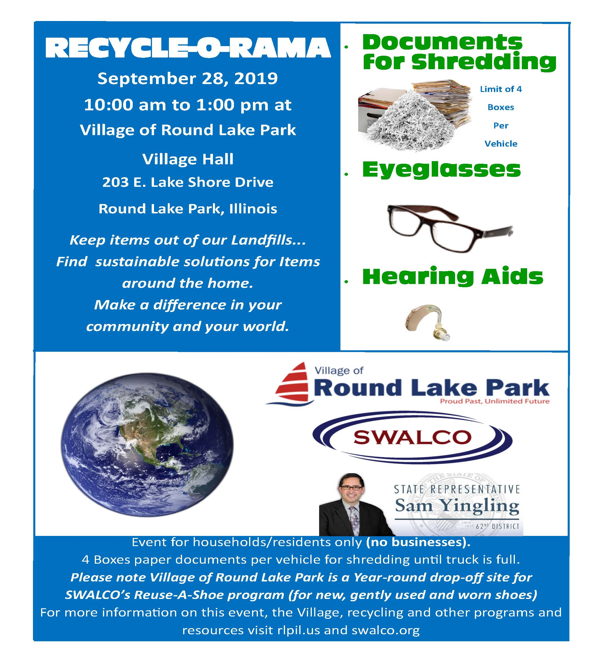 Recycle-O-Rama Village of Round Lake Park and SWALCO September 28 2019