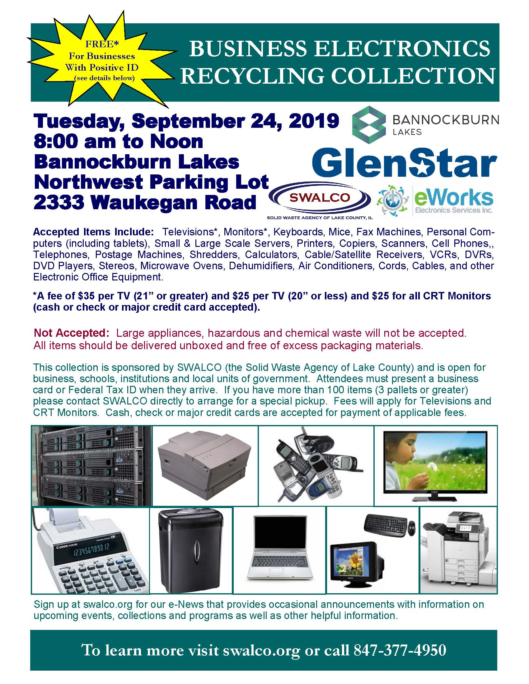 Electronics E-Works Village of Bannockburn Sep 24, 2019