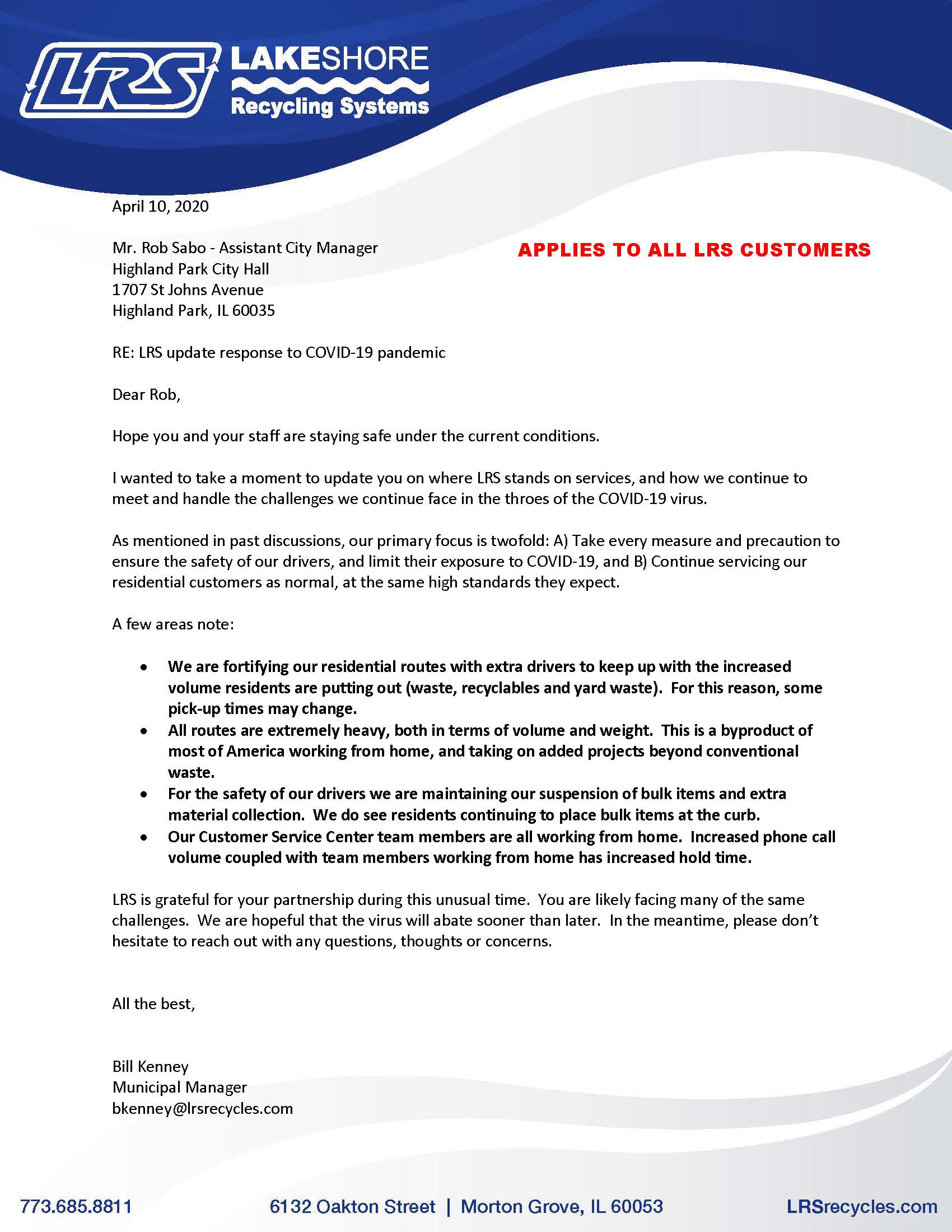 LRS COVID-19 Update Letter _ 04-10-20 HP